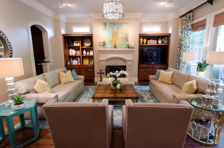 Updated Park Cities living room design