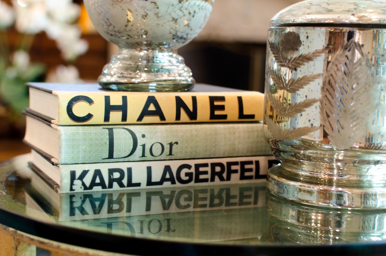 Decorative fashion coffee table books
