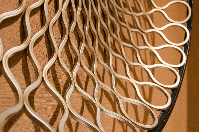 Metallic woven bowl