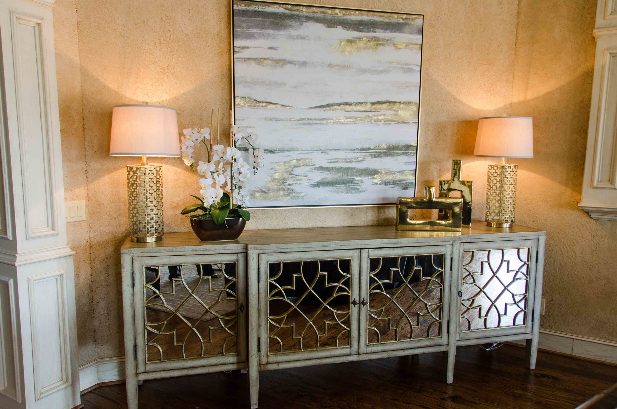 Hooker sanctuary mirrored front console