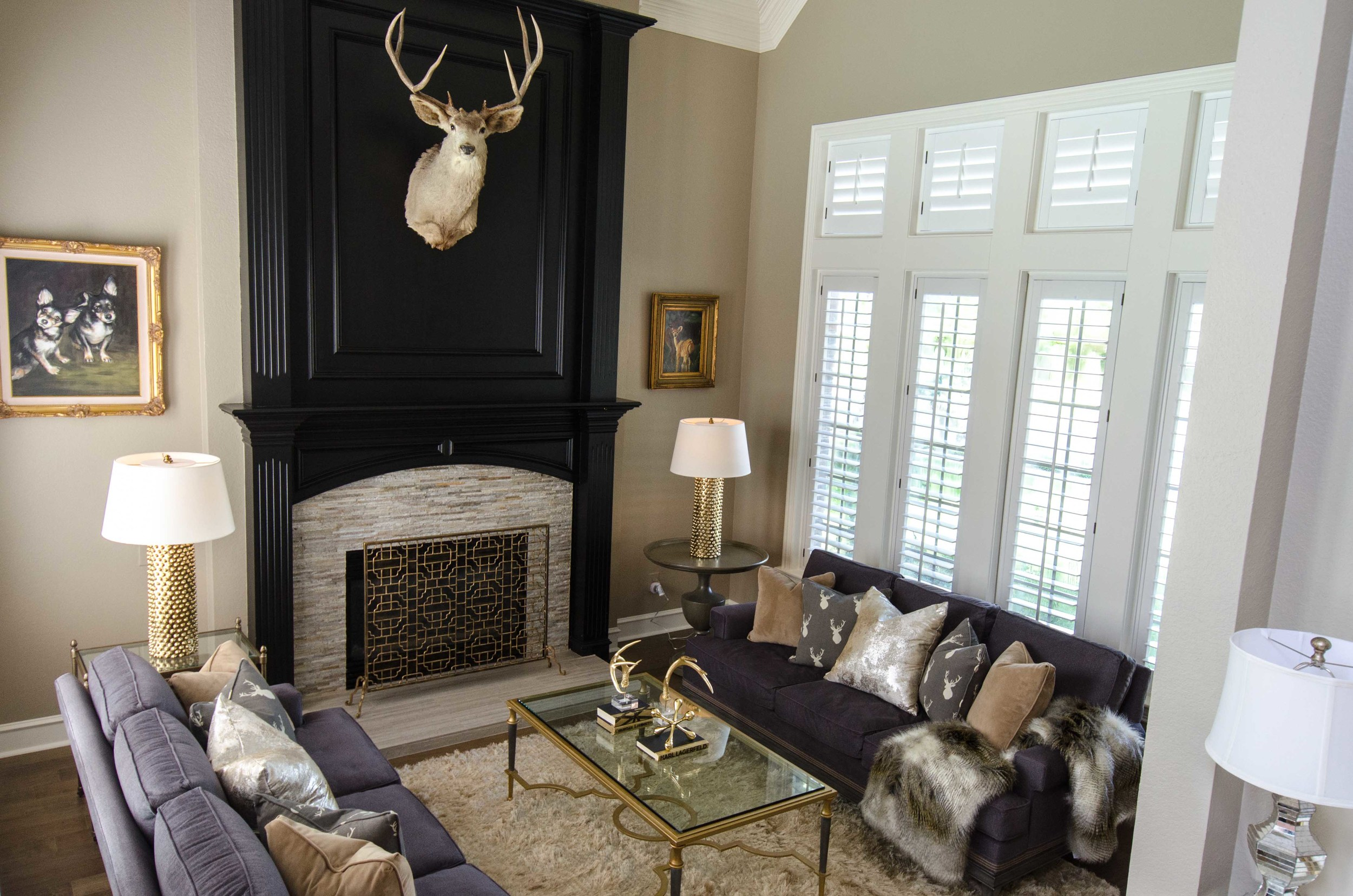 Updated traditional formal sitting room