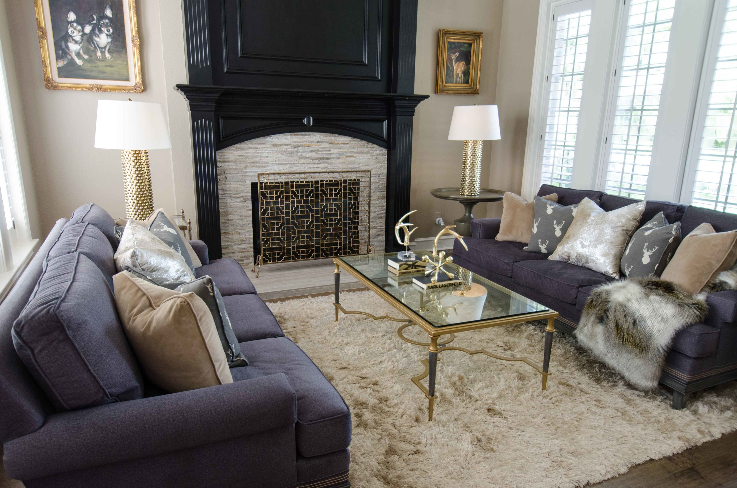 Layered neutral interior design