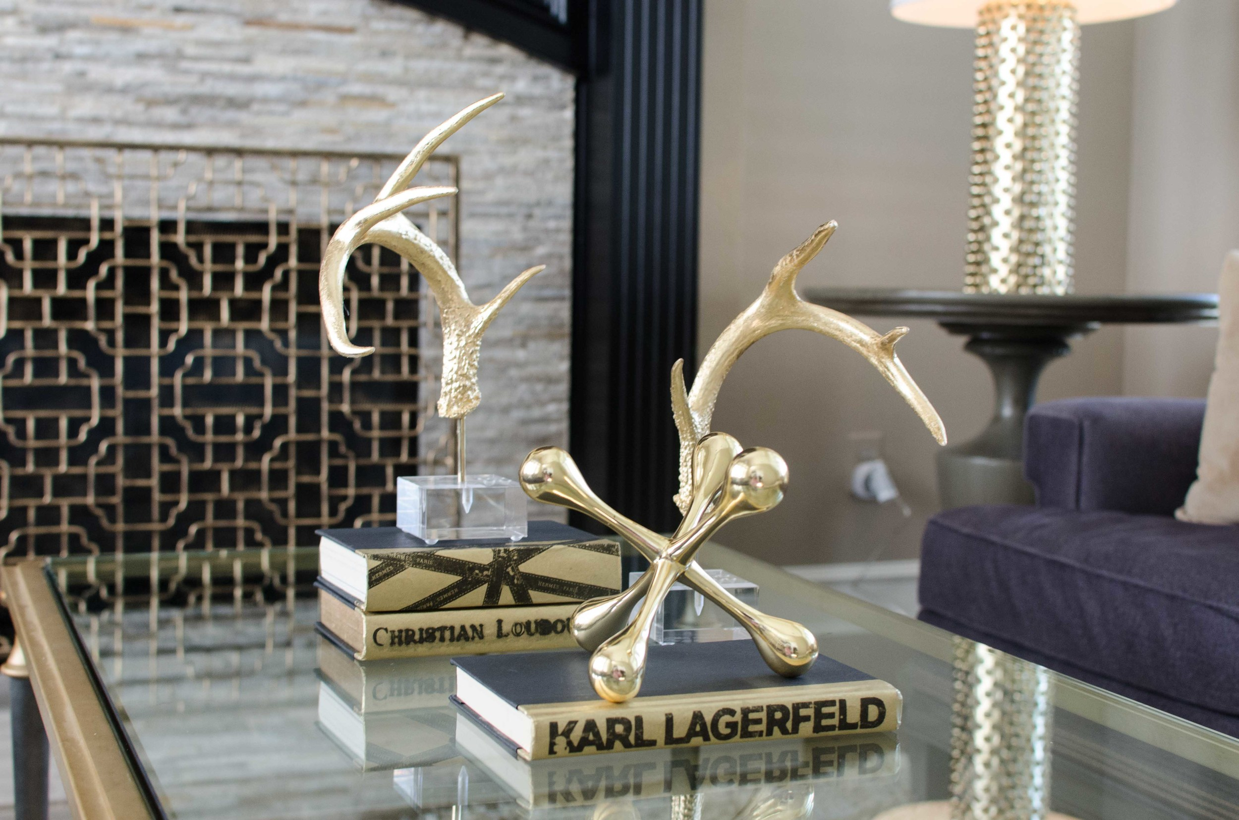 Gold antlers and accessories