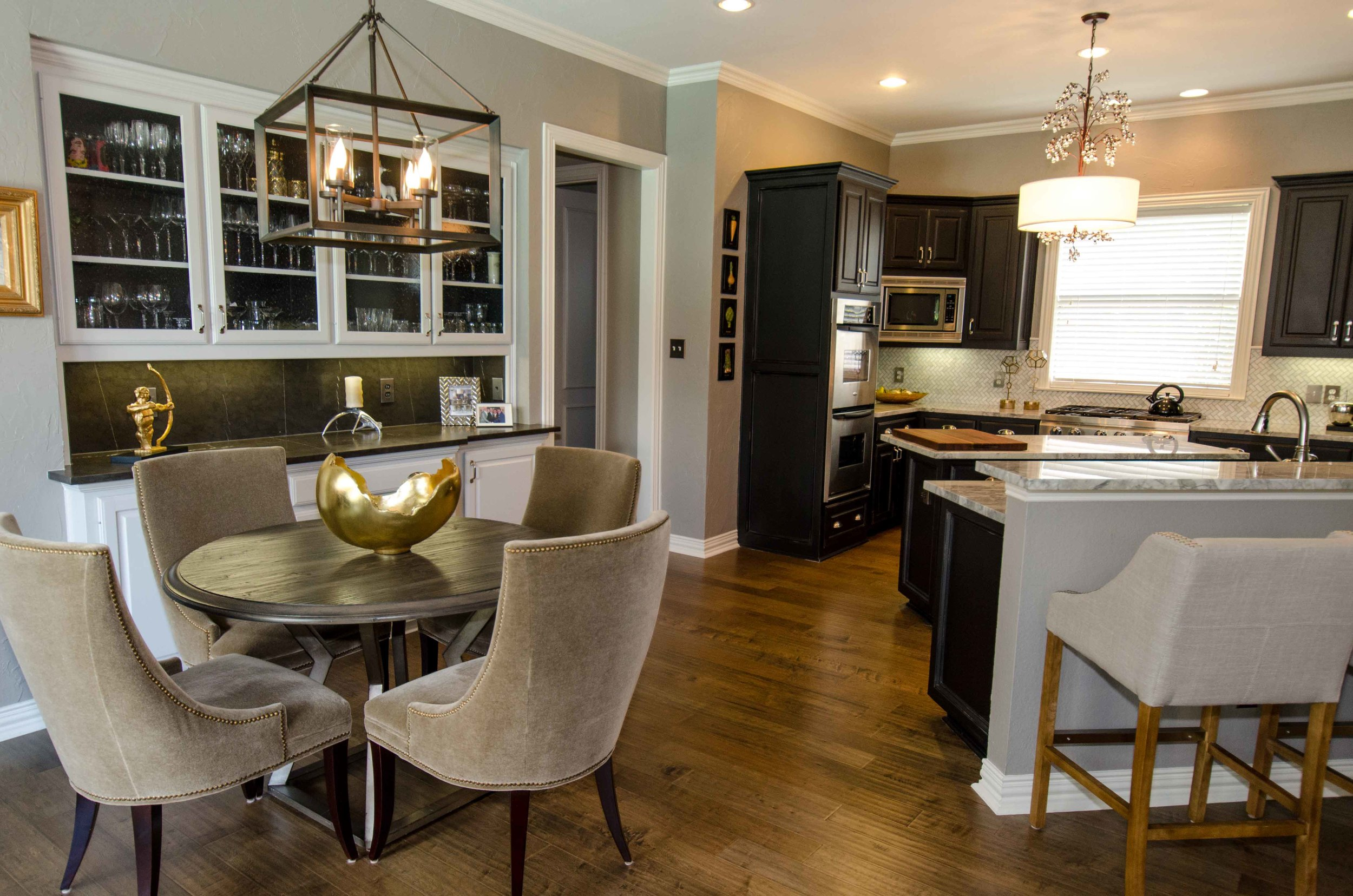 Build in dining storage