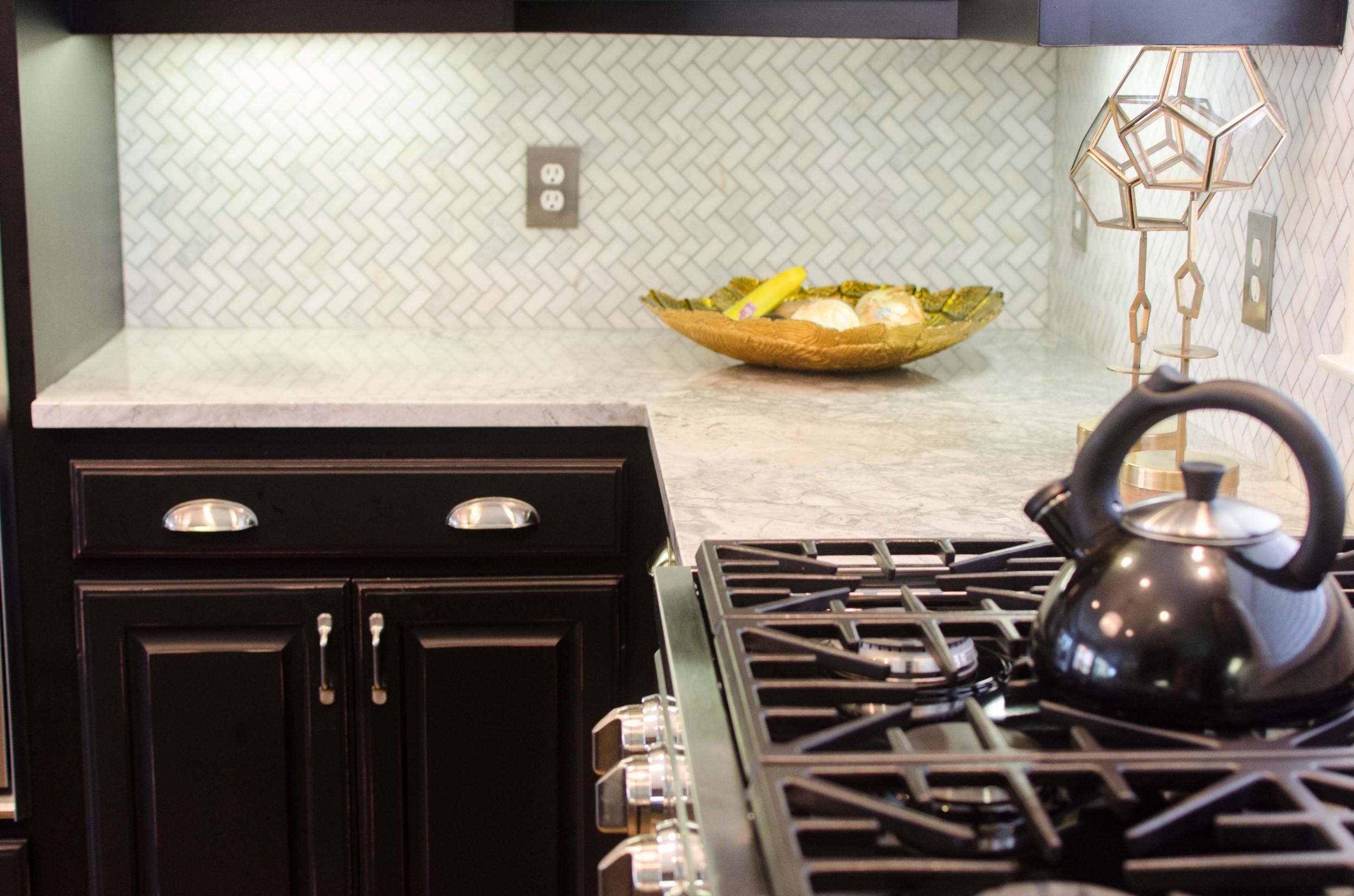 Chefs kitchen with gas range