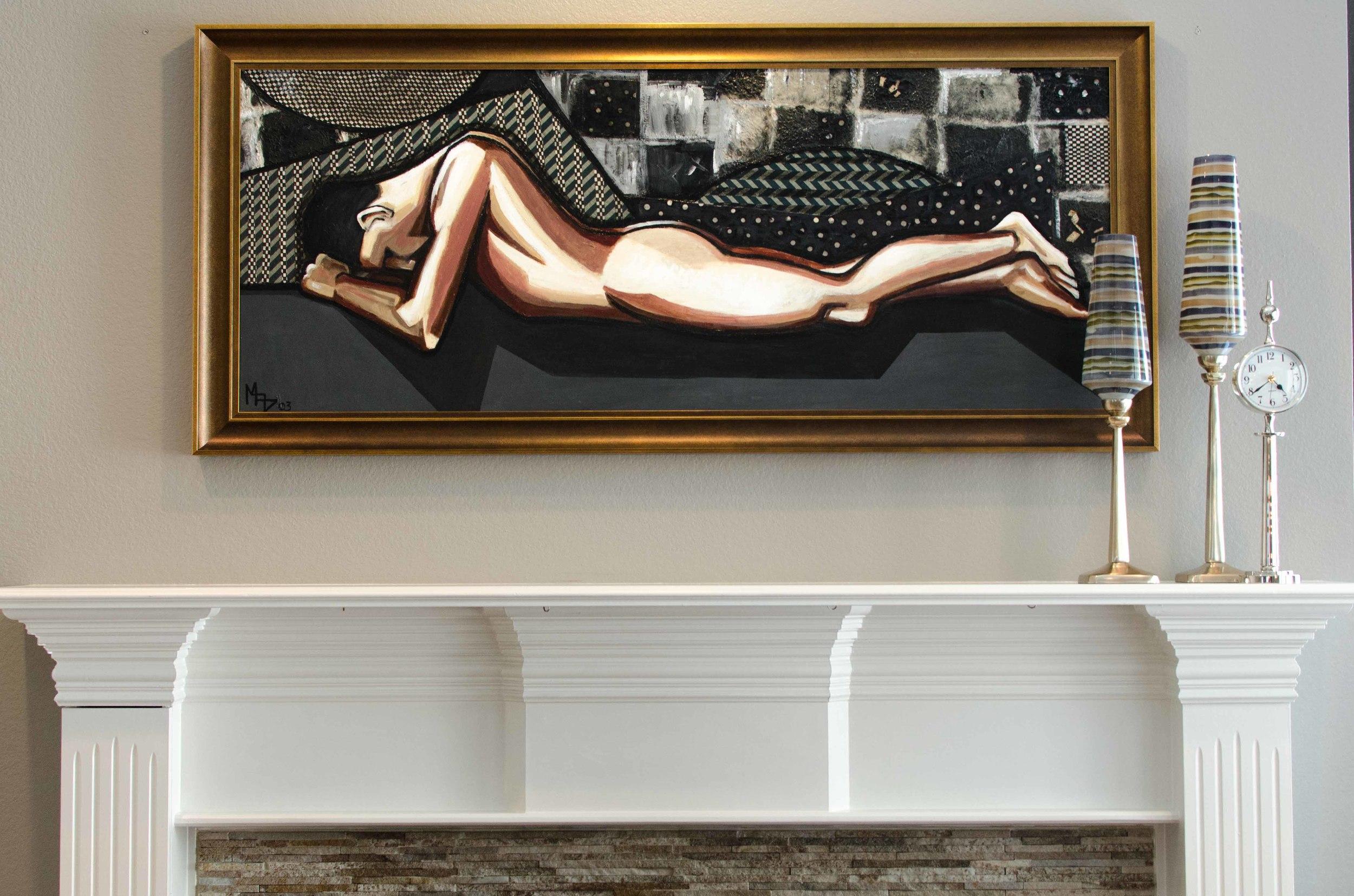 Male nude original modern art piece