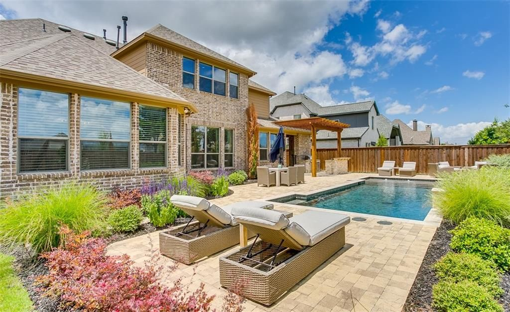 Backyard design for a client in Frisco, TX. They are for sure going to enjoy this patio!