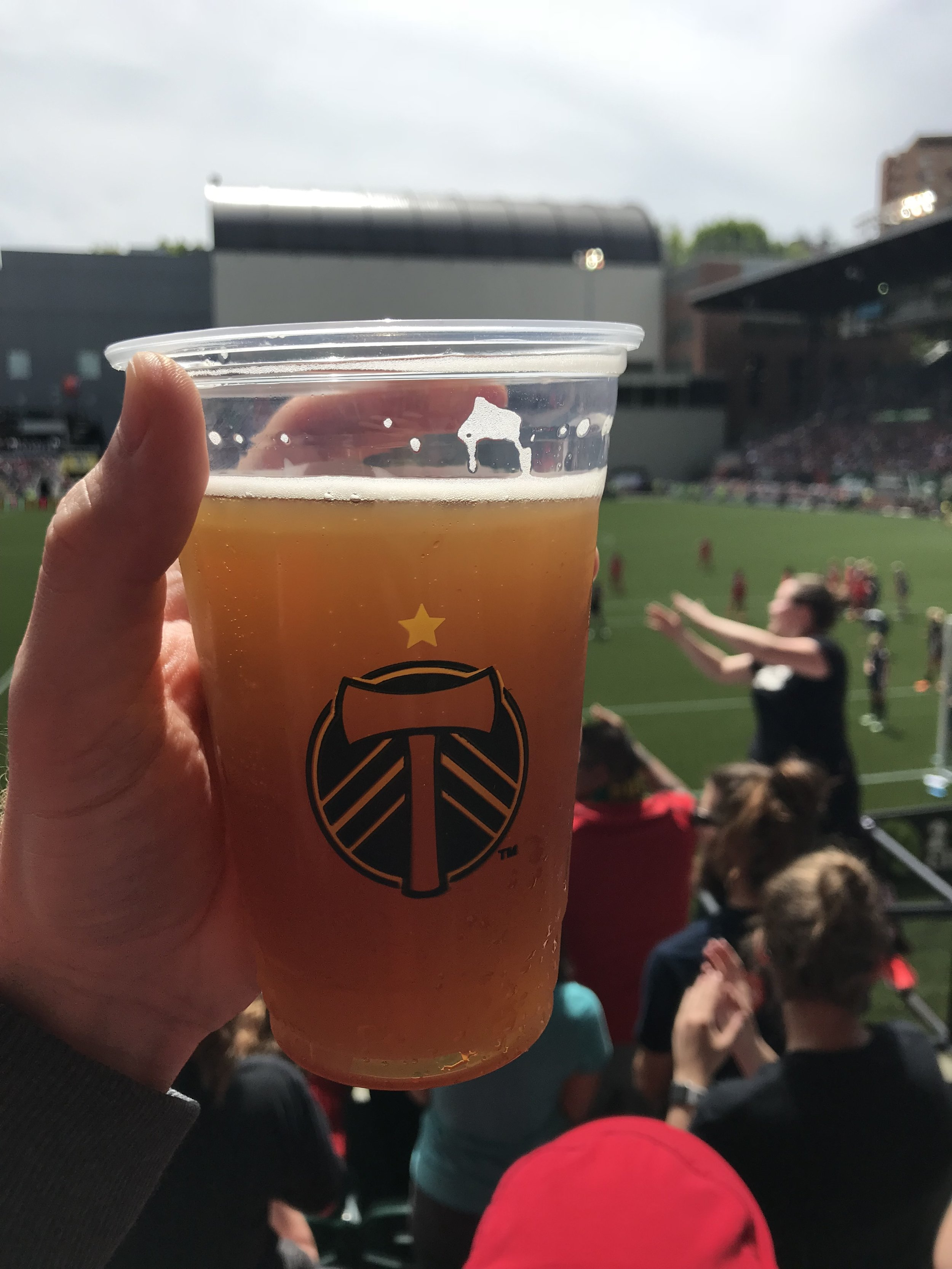 Beer at a Timbers and Thorns game