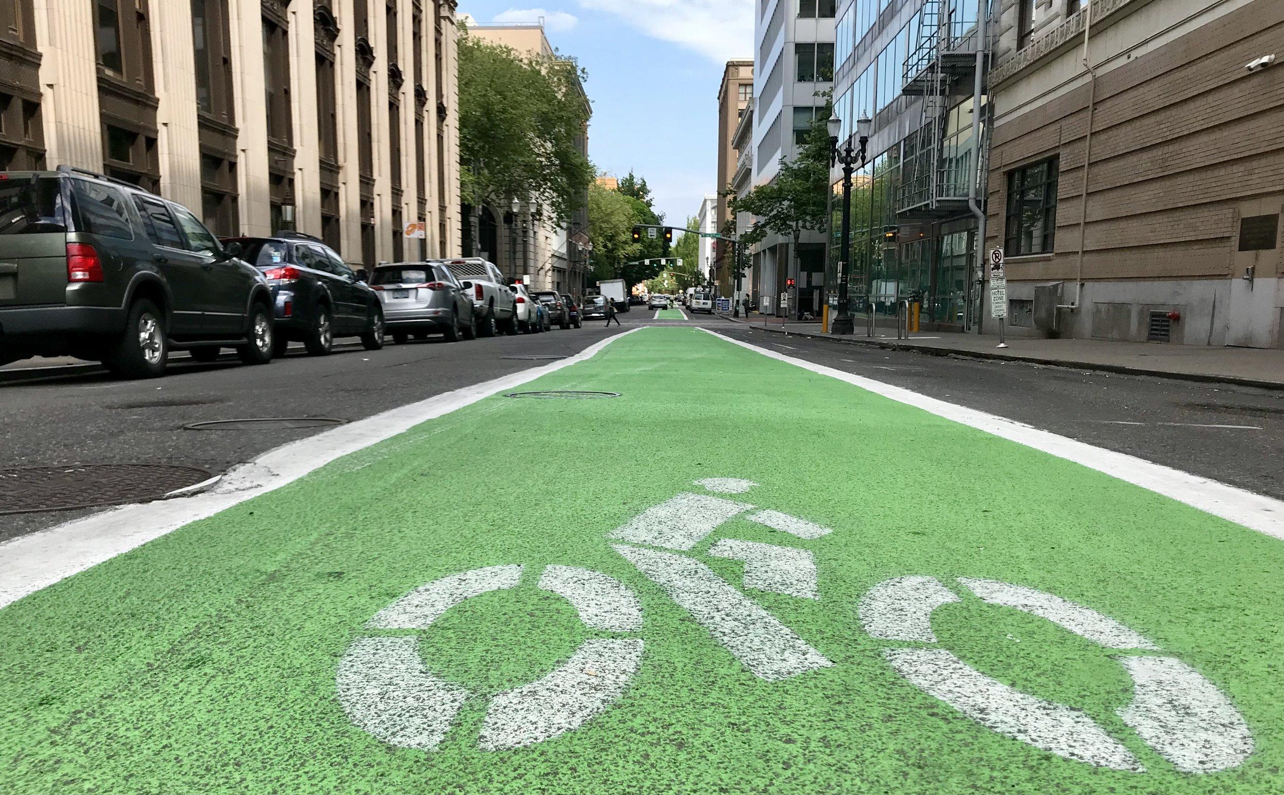 Bike Lanes Portland Oregon