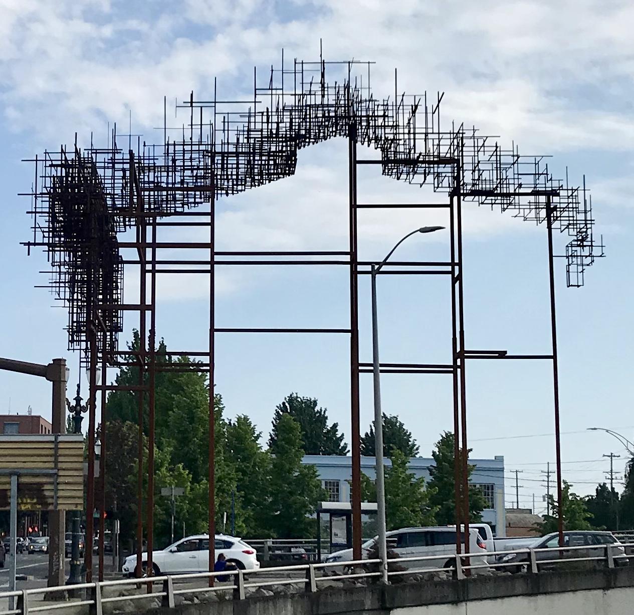Art installation in SE Portland