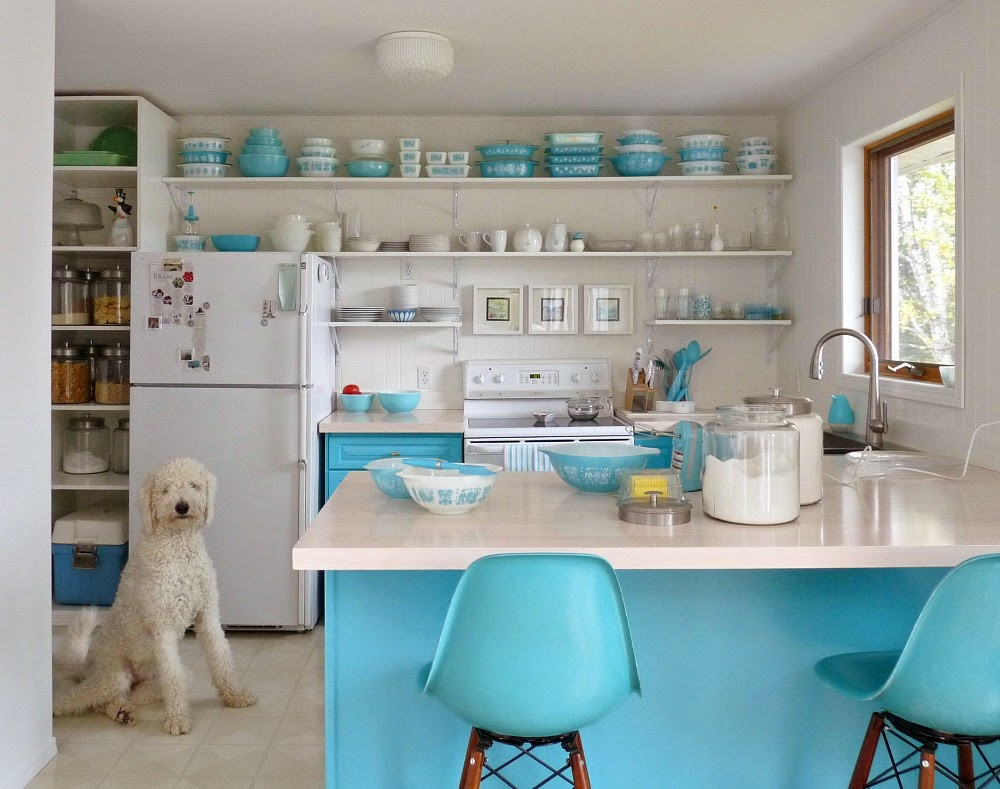 Even though this is a cute curated open shelving kitchen, is it practical or just pretty?