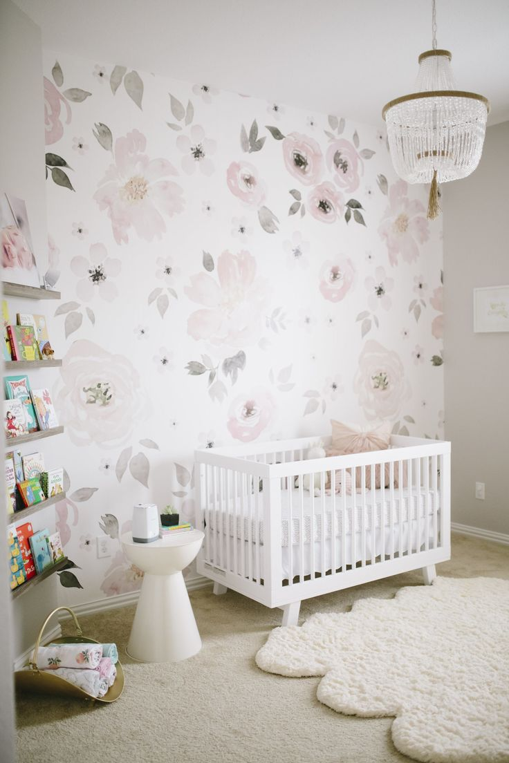The perfect nursery wallpaper. It's bold and beautiful and it only needed on the feature wall.