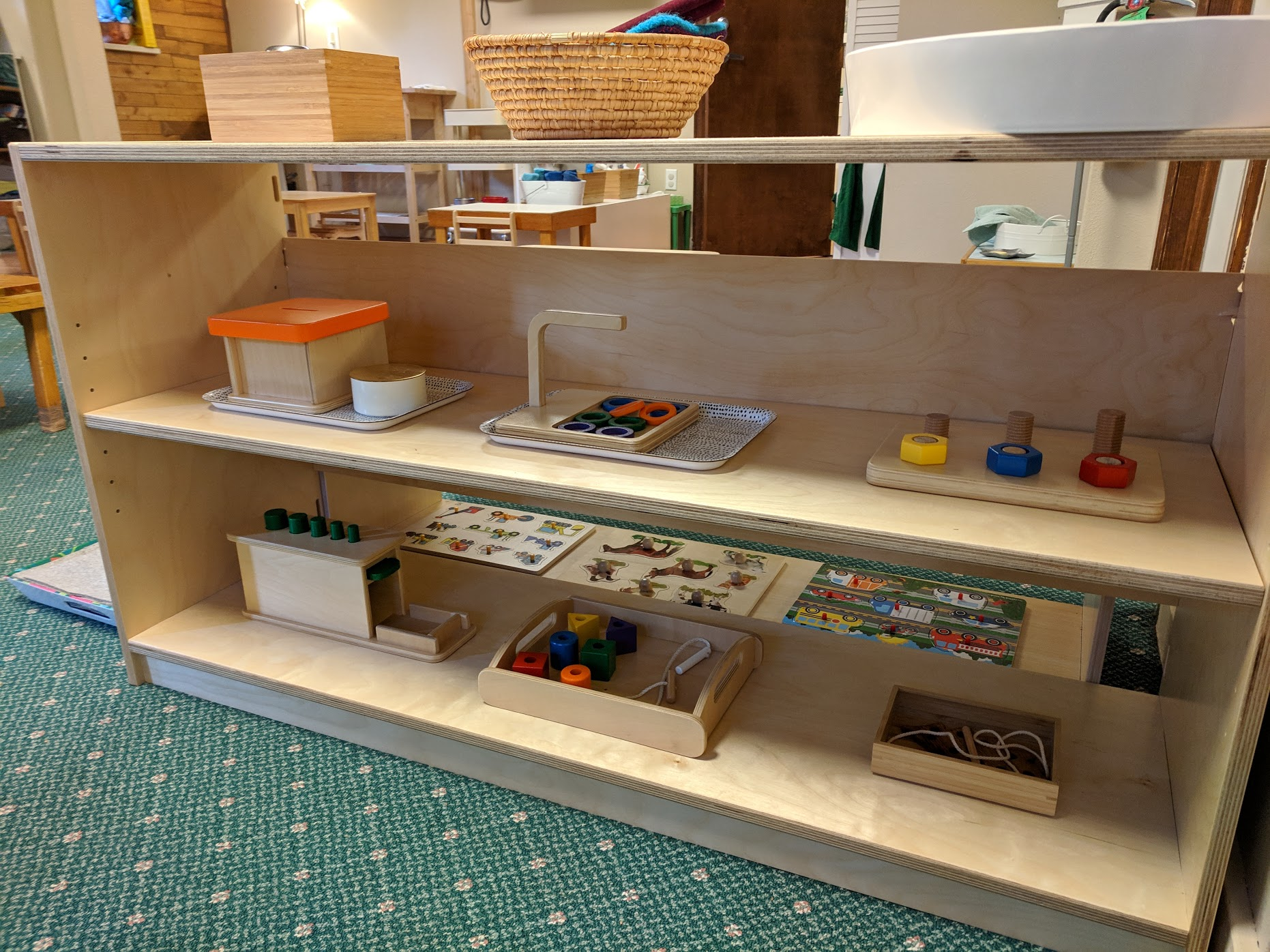 Manipulatives Shelf The Montessori School of Evergreen 2019
