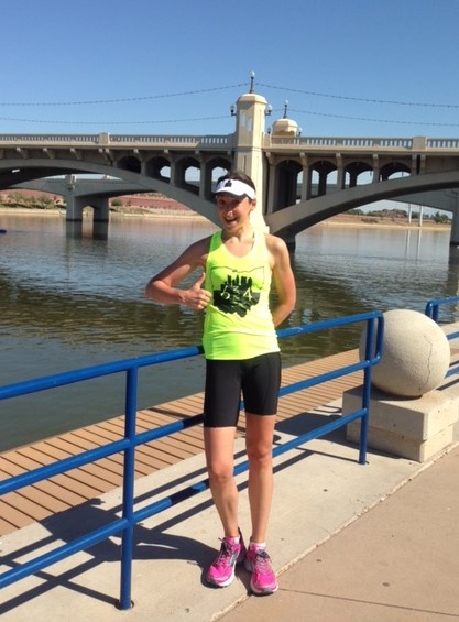 Me posing on the run course leading up to IMAZ 2014