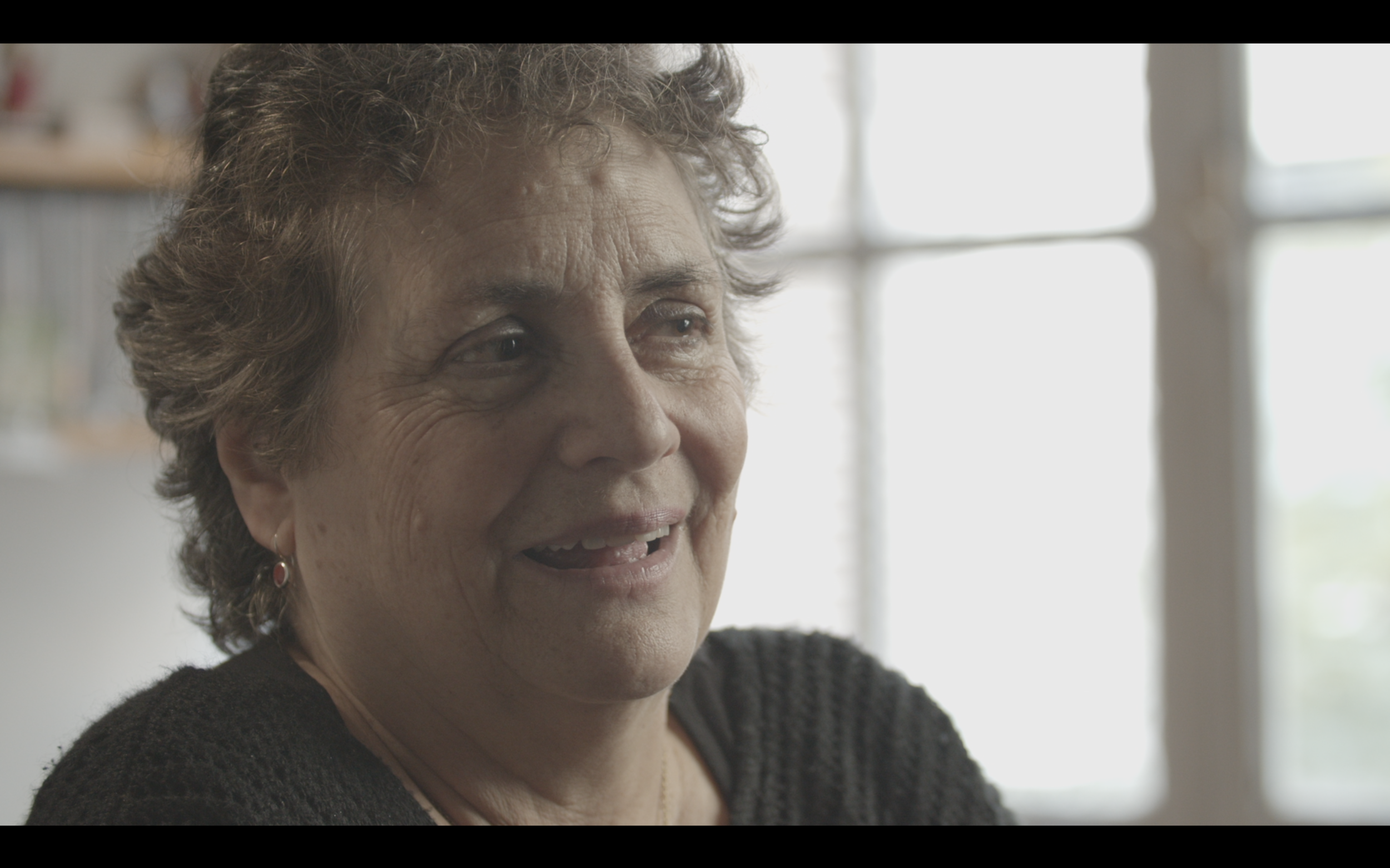 Still from our interview with Soledad Fariña, Poet and Feminist. — (not color corrected.)