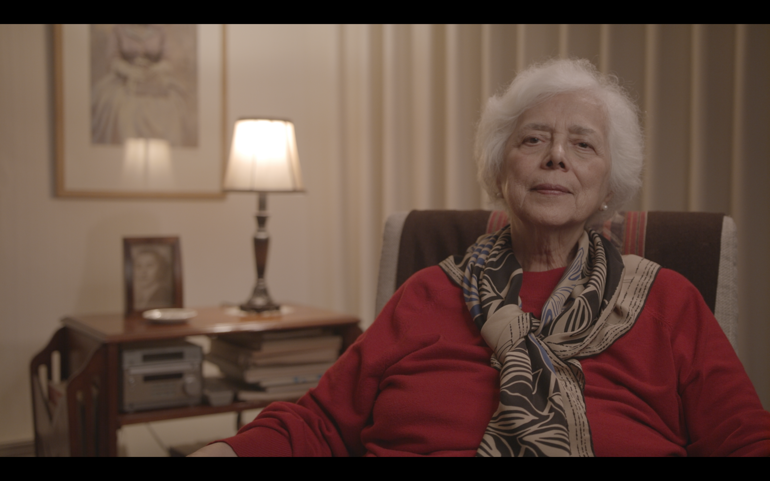 Still from our interview with Eliana Ortega, Professor of Literature and a literary critic. (Not color corrected.)