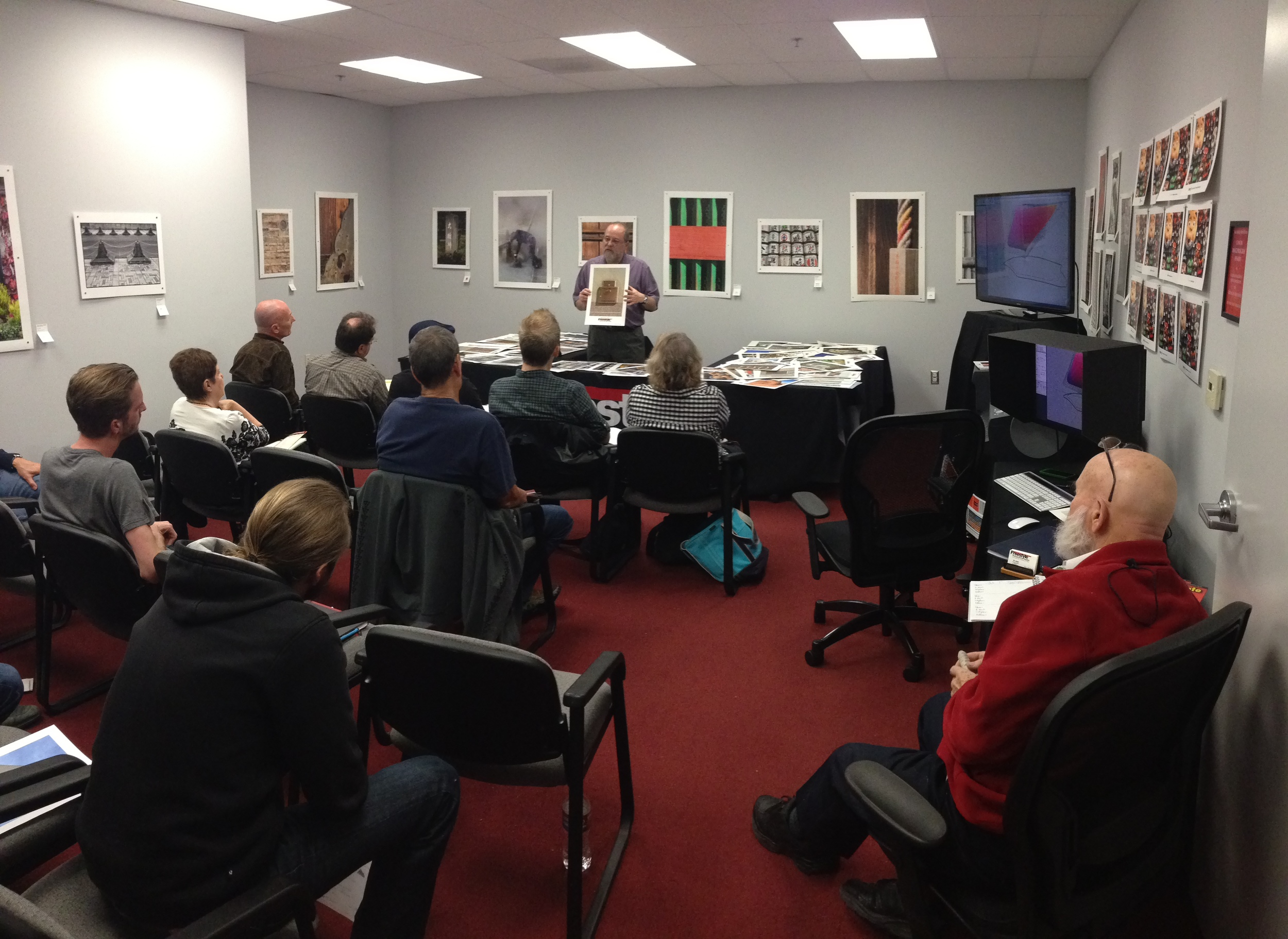 "Eric Joseph explains the many differences of inkjet papers carried at Freestyle Photographic Supply in LA.  ""The World of Inkjet Papers"" class was jammed full of information about printing and inkjet papers.  Best part...it was free!  I love that word."