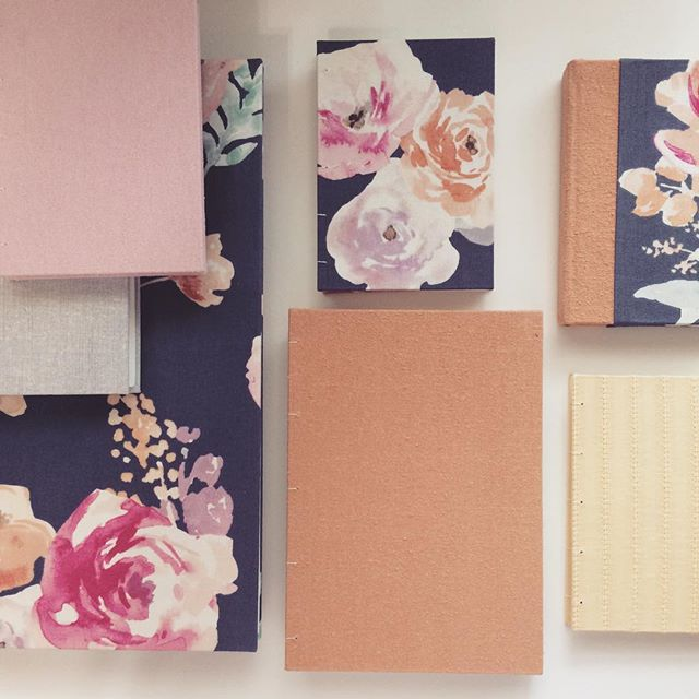 New journals and sketchbooks in pretty florals and pastel solids are coming soon to the website! 🌸 #newproducts #softspokenpaperco #handmadebooks #journaling #sketchbook #flowers