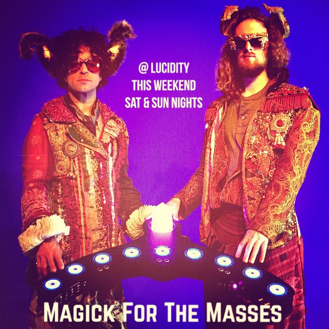 April 10 & 11: Santa Barbara.  Lucidity Festival      SpaceHarp with DJ AHEE & Magick For The Masses