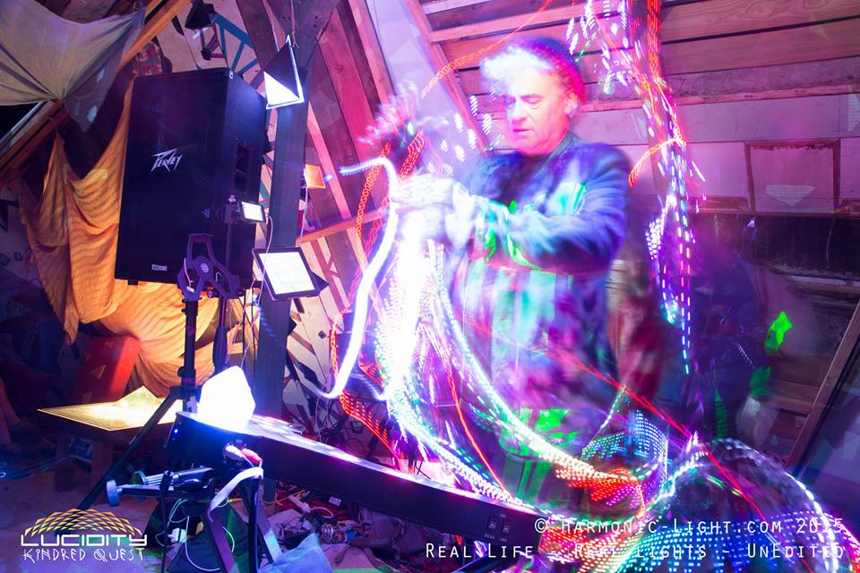 DAVID CLARK at SpaceHarp's Lucidity Installation
