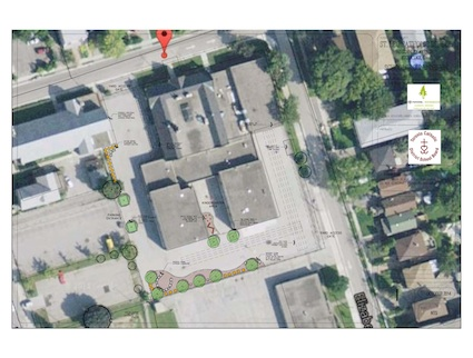 Site Plan for Outdoor Greening - Slated to begin the Summer of 2015