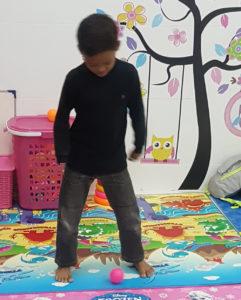 Figure 4. John playing happily.