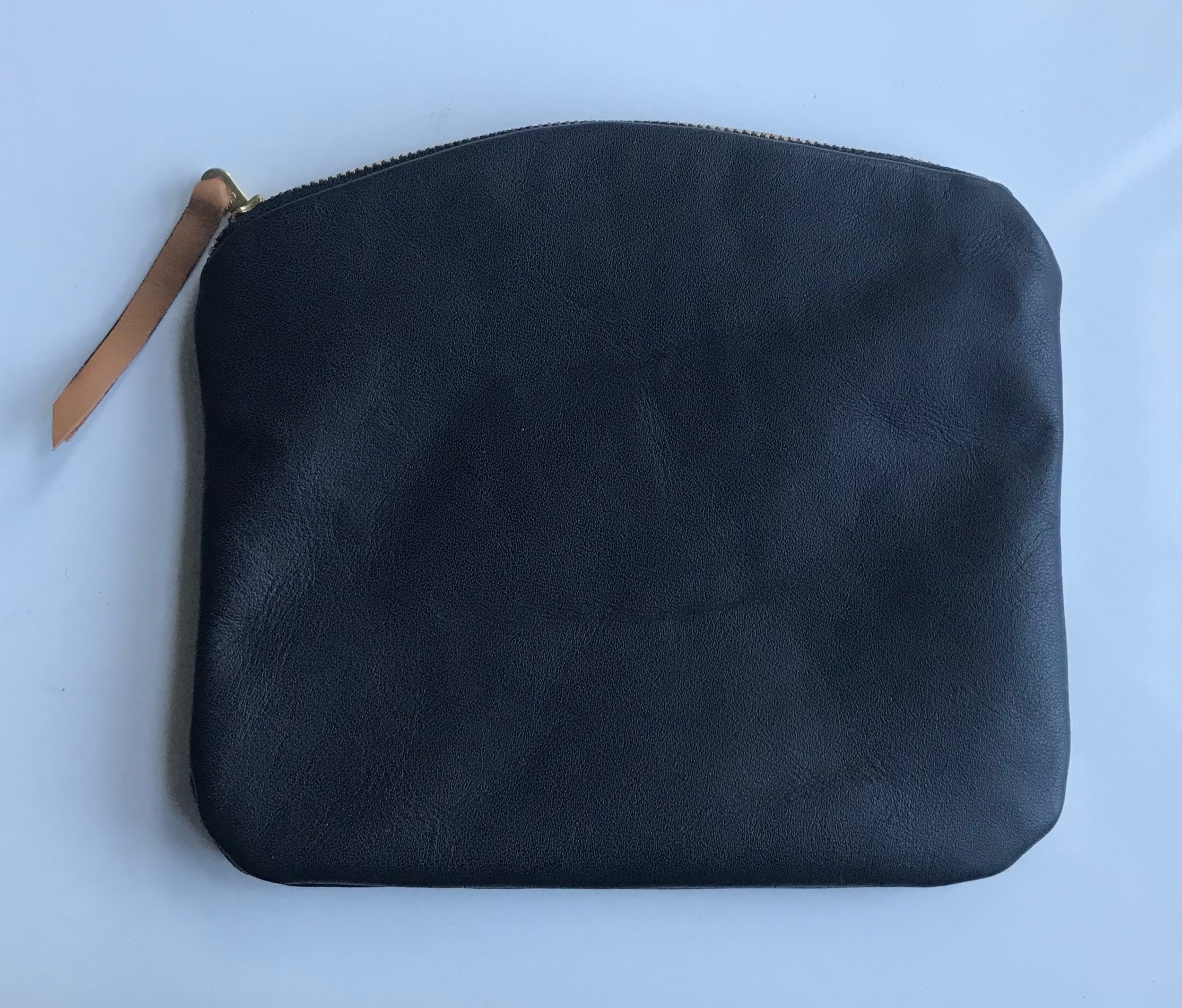 A pretty fantastic leather clutch made in the January workshop.