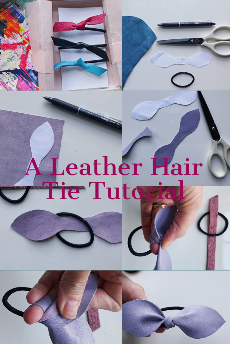 DIY Leather Hair Tie and Bow Tutorial