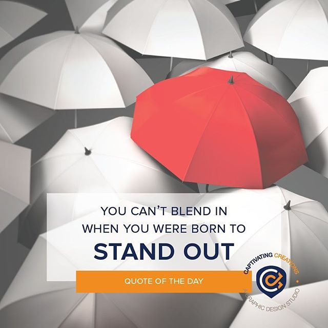 Be uniquely YOU! . . . #qotd #quote #quoteoftheday #quoteoflife #quotes #quoteoftheweek #graphic #graphicdesign #graphicquote #logodesigner #dallasdesigner #blackdesigner #umbrella #red #redumbrella
