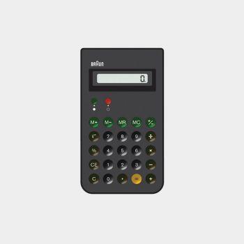 ET 66 calculator, 1987, by Dieter Rams for Braun [CC BY-NC-ND 3.0] via Vitsœ.