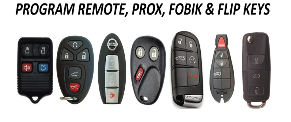 Fast Keys by The Keyless Shop in San Diego programs remotes, cuts car keys, and makes flip keys for most make and model vehicles.