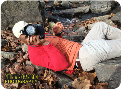 When you're willing to lie down on a bed of rocks, among the leaves, dirt and crawling critters just to get the right shot ... it is a passion.
