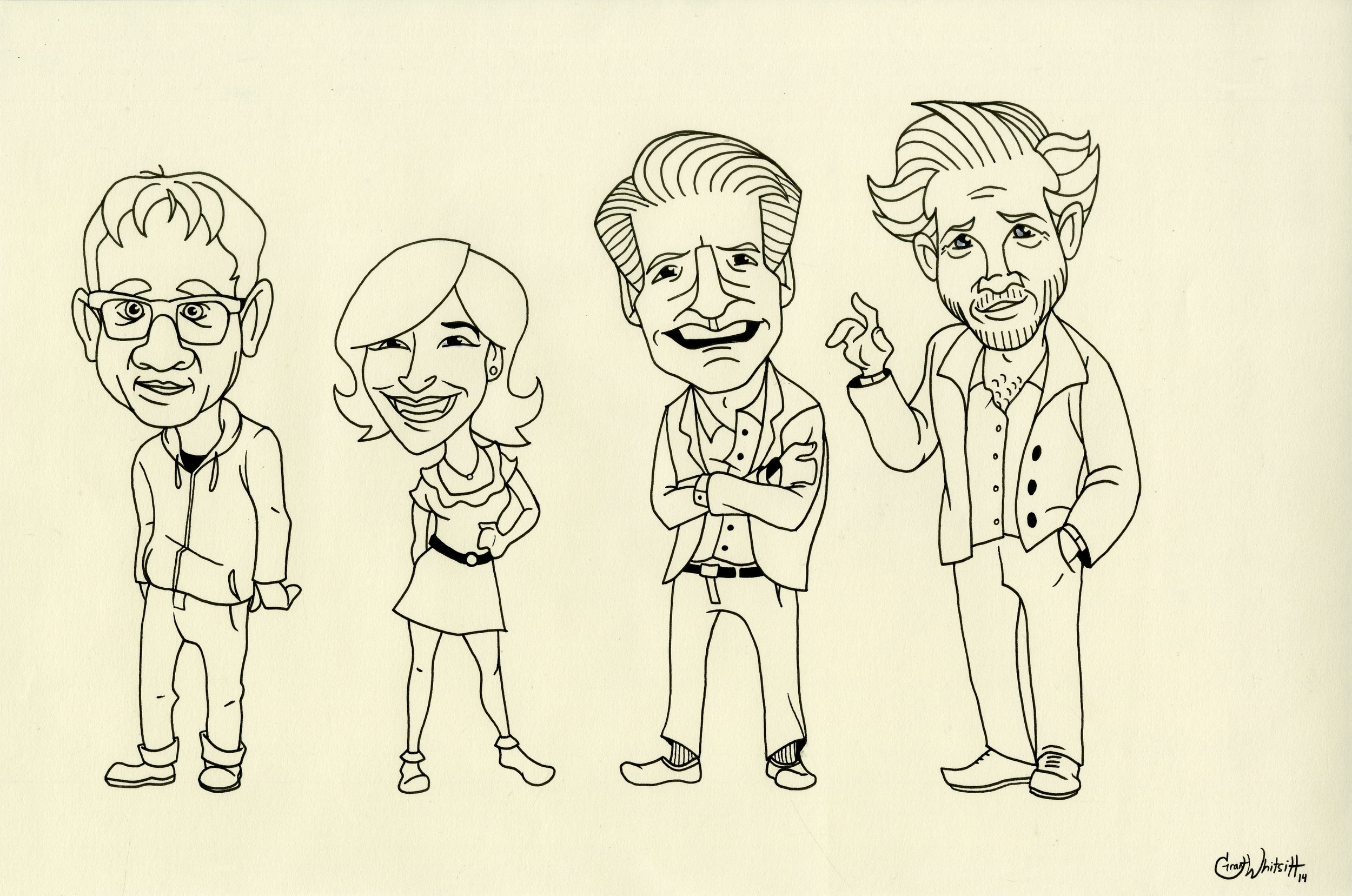 Portlandia Animated Cast Concept - Linework