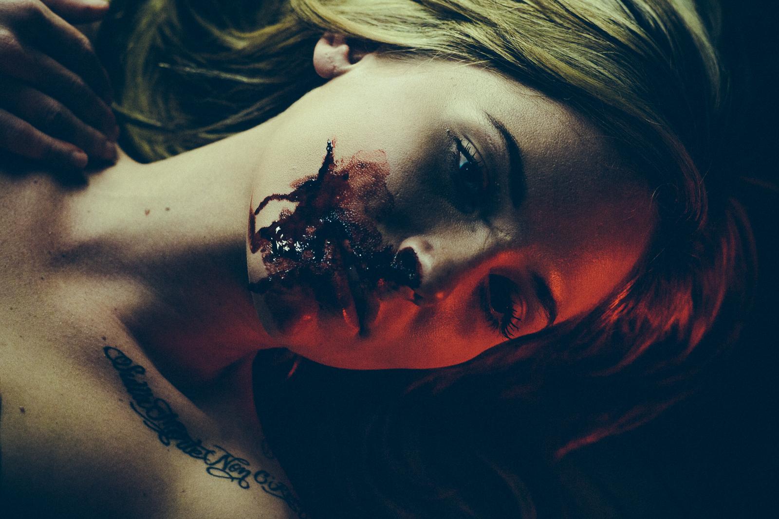 Alina. Blood Session. Photo by Flavio Scorsato