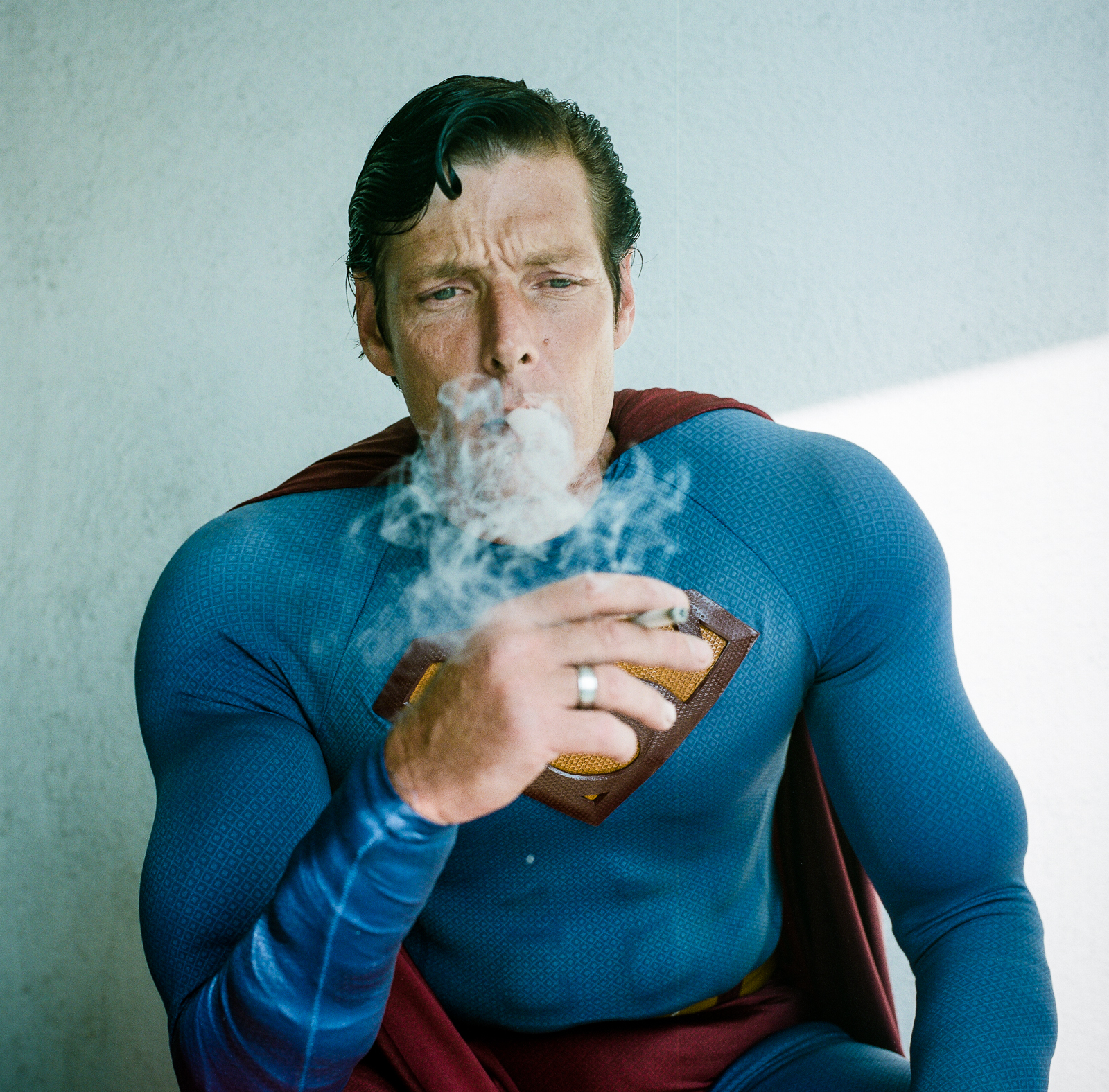 Christopher Dennis from Confessions of a Super Hero, as Superman. Photo by Flavio Scorsato