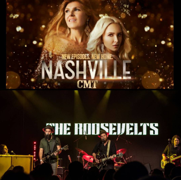 You can see The Roosevelts on the season premiere of  NASHVILLE  on January 5th, 2017, on CMT.