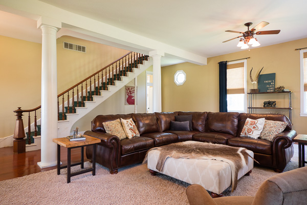 Living room interior photograph :: Michael Gowin, Illinois Home Photography, Bloomington, IL