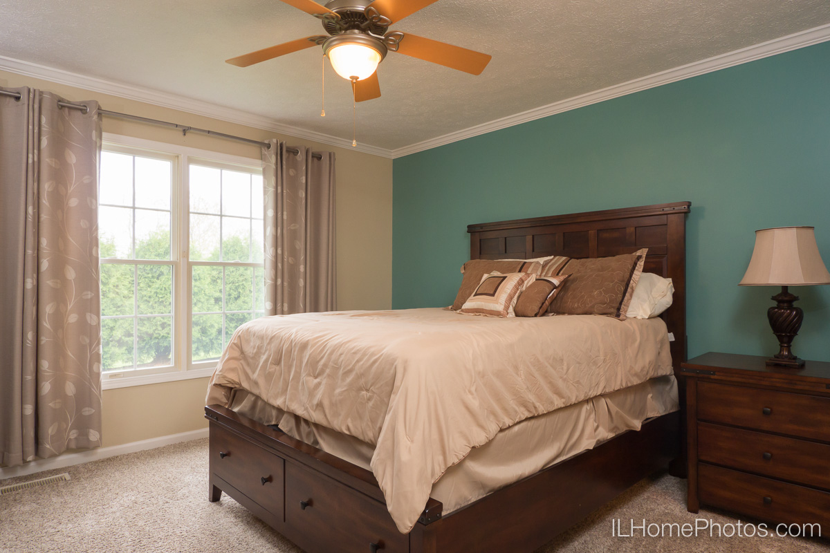 Master bedroom interior photograph, Morton, IL :: Illinois Home Photography by Michael Gowin, Lincoln, IL