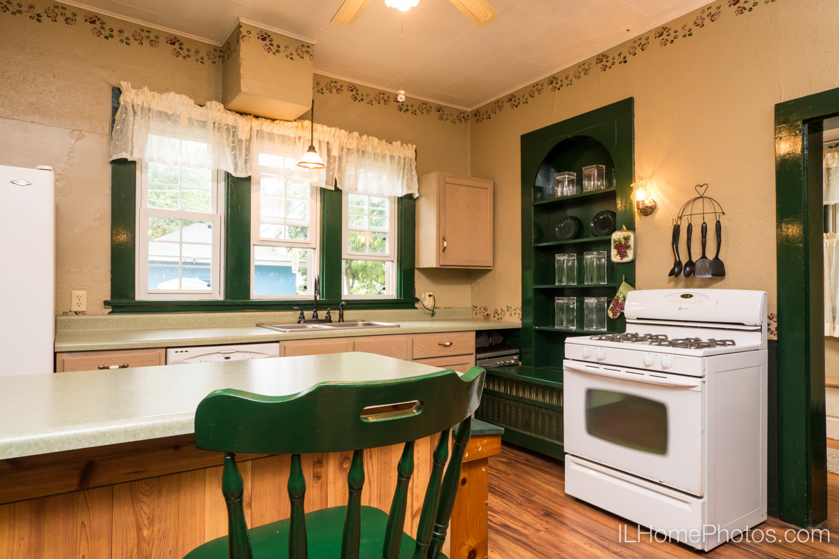 Interior kitchen photograph for real estate in Delavan, IL :: Illinois Home Photography by Michael Gowin, Lincoln, IL