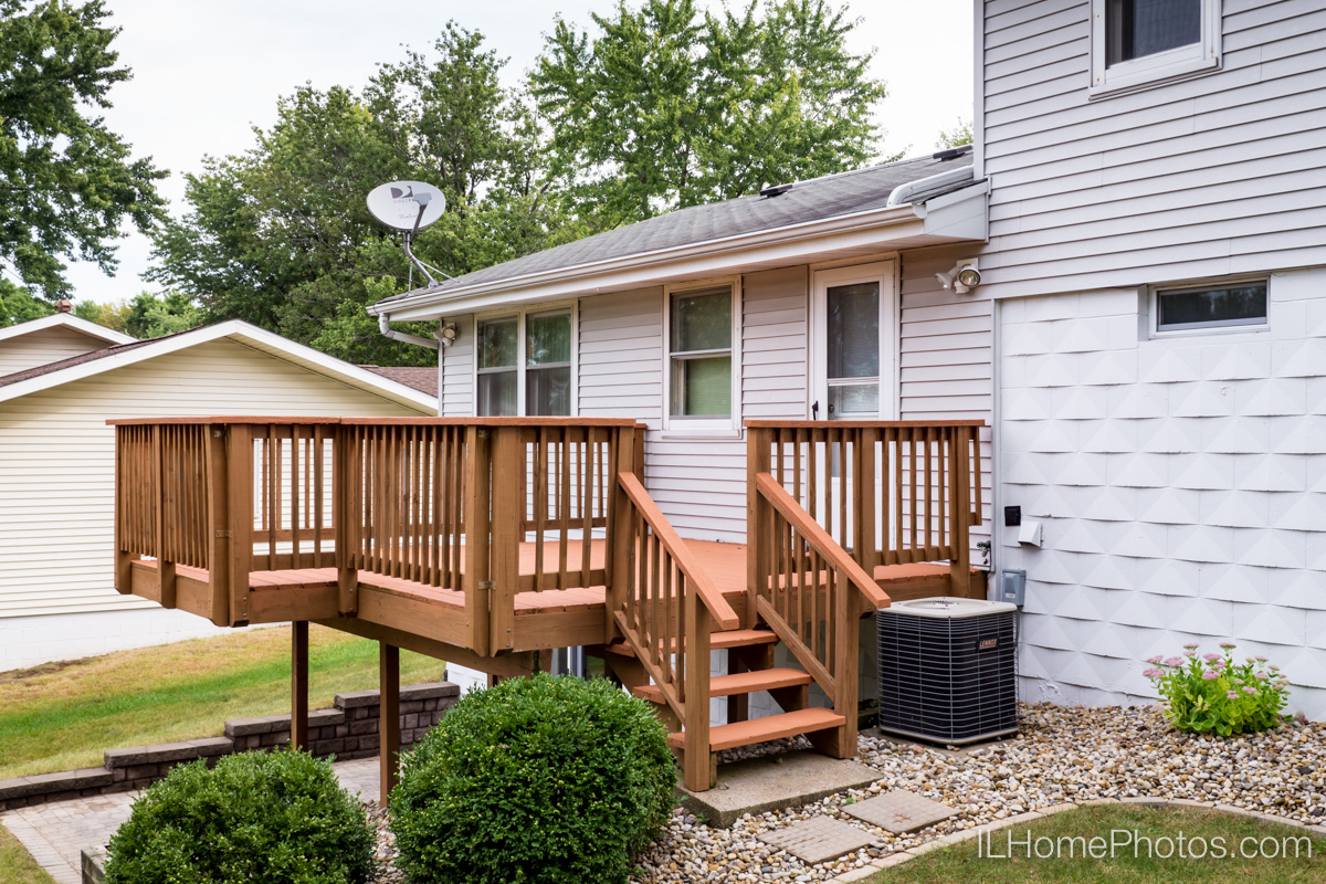 Back deck photograph for real estate in Peoria, IL :: Illinois Home Photography by Michael Gowin, Lincoln, IL