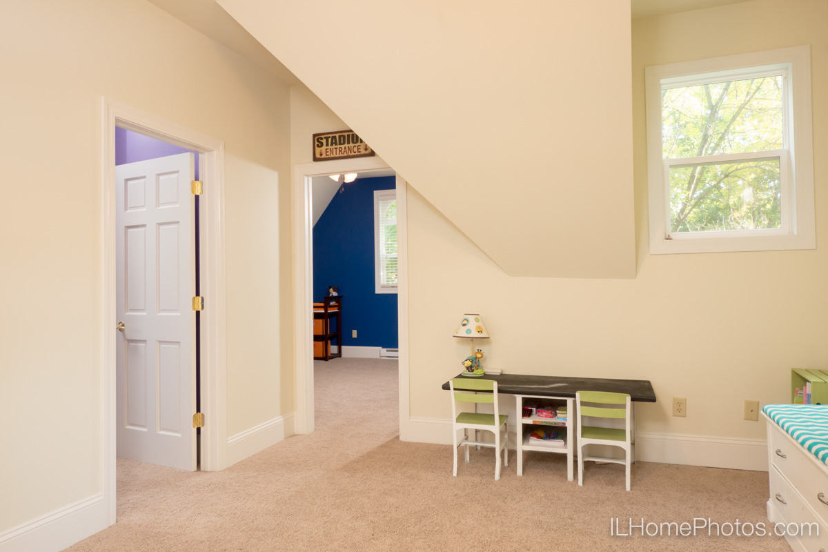 Interior home playroom photograph for real estate in Delavan, IL :: Illinois Home Photography by Michael Gowin, Lincoln, IL