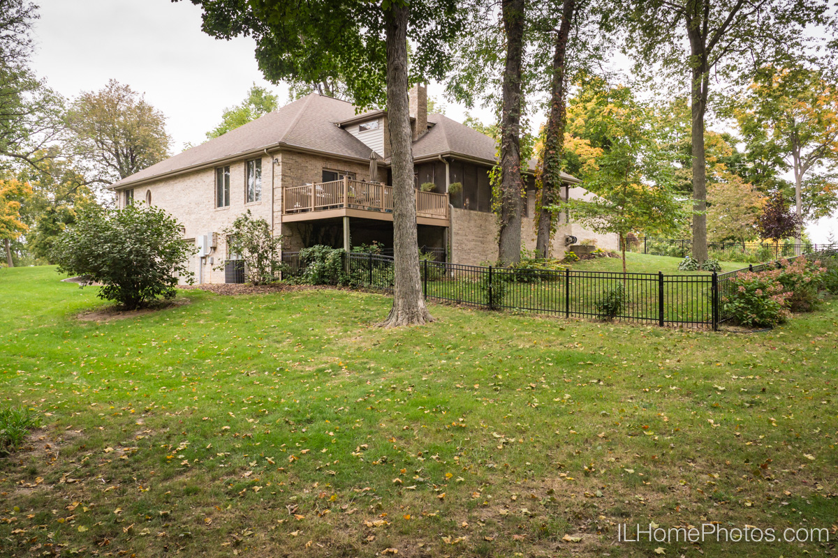 Exterior home photograph for real estate in Elkhart, IL :: Illinois Home Photography by Michael Gowin, Lincoln, IL