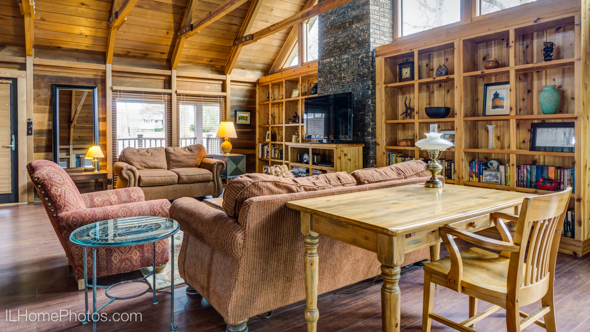 Interior living room photograph for real estate, Cuba, IL :: Illinois Home Photography by Michael Gowin, Lincoln, IL