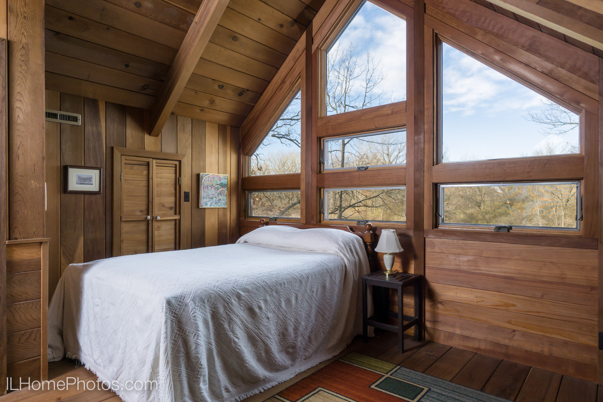 Interior loft bedroom photograph for real estate, Cuba, IL :: Illinois Home Photography by Michael Gowin, Lincoln, IL