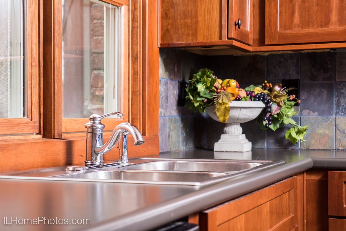 Interior kitchen detail photograph for real estate, Cuba, IL :: Illinois Home Photography by Michael Gowin, Lincoln, IL