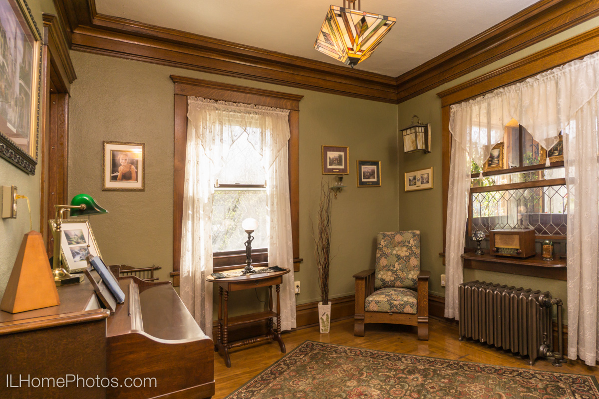 Interior parlor photograph for real estate, Washington, IL :: Illinois Home Photography by Michael Gowin, Lincoln, IL