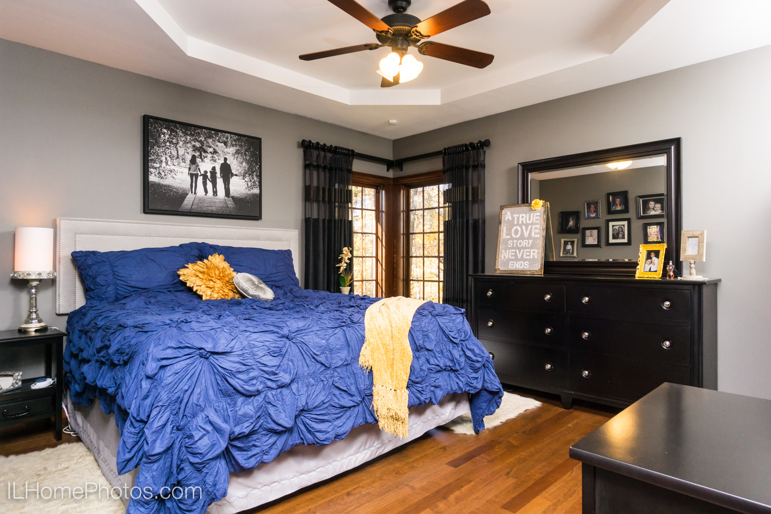 After - professional photograph of master bedroom