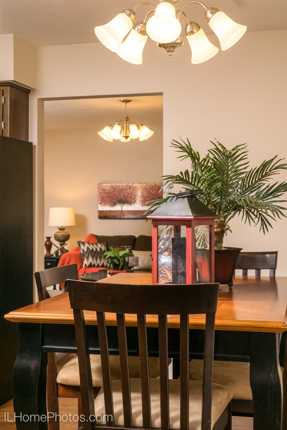 Interior dining area photograph for real estate in Morton, IL :: Illinois Home Photography by Michael Gowin, Lincoln, IL