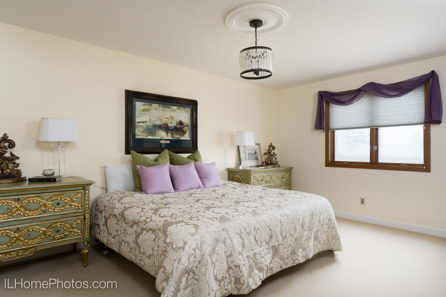Interior master bedroom photograph for real estate in Dunlap, IL :: Illinois Home Photography by Michael Gowin, Lincoln, IL