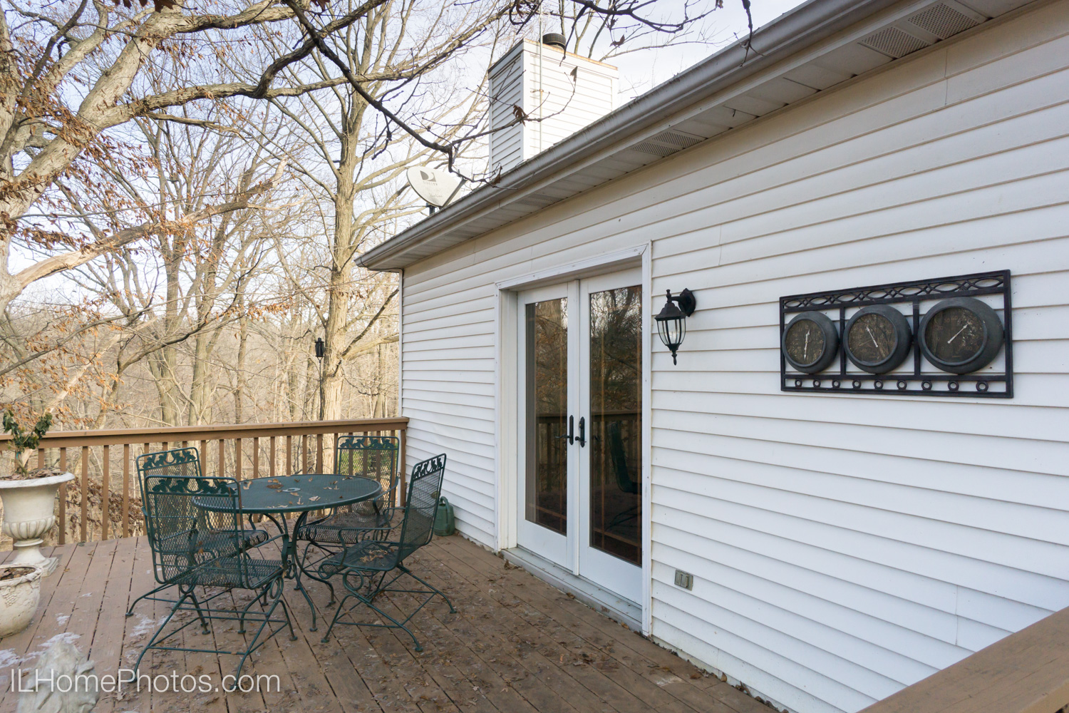 Exterior back porch and deck photograph for real estate in Dunlap, IL :: Illinois Home Photography by Michael Gowin, Lincoln, IL